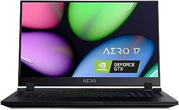 "[2020] Gigabyte AERO 17 SB-7US1130SH Thin and Light Laptop, 17.3"" Thin Bezel 144Hz FHD Anti-Glare Display, i7-10875H, NVID..."