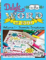 coloring page, blue book cover, delight in the word of god