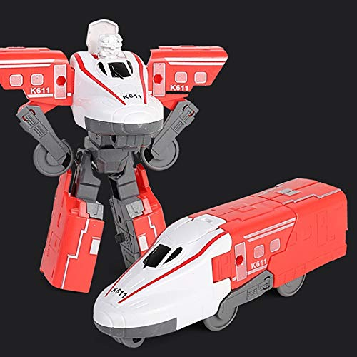 DEORBOB Robot de tren de deformación de rompecabezas 3 en 1, tren...