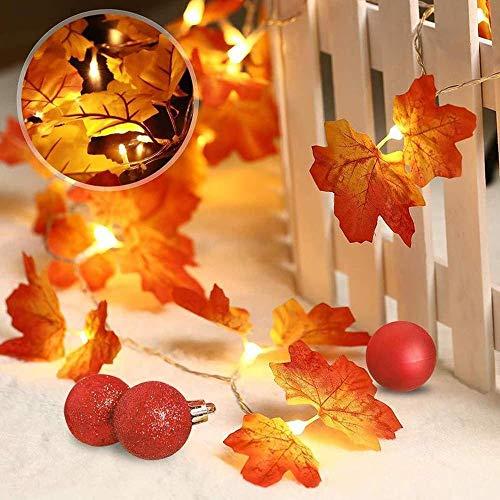Zuichu Led-kerstverlichting, maple leaf snoer, batterijbox, binnenlantaarn, buitenverlichting, decoratief licht