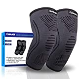 OMAX Elbow Compression Sleeve Brace (1 Pair) - Instant Arm Joint Prevention Pain Relief For Tennis Elbow & Golfers Elbow, Tendonitis, Arthritis, Bursitis, Fitness Support, and any Activity Workouts