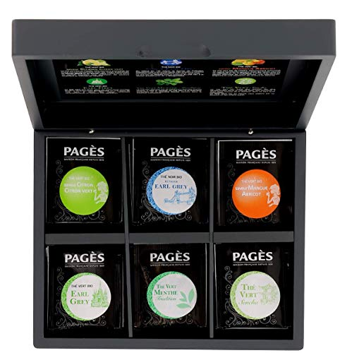 Pagès Coffret en bois de thé Bio 60 sachets