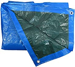 HomeMaison dekzeil waterdicht met oogjes PVC blauw 200 x 300 cm