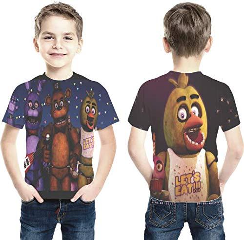 Camiseta Five Nights At Freddy's mod 2 Estampa Total Infantil
