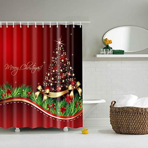 xkjymx Halloween-Wand-großes Badetuch-Teppich-Wand-Vorhang-Guten Rutsch ins Neue Jahr Santa Claus Red