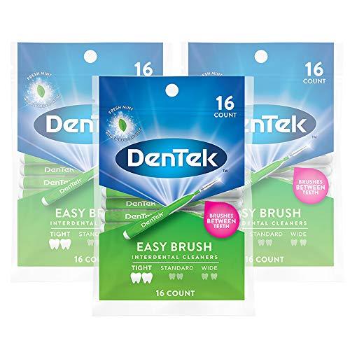 DenTek Easy Brush Interdental Cleaners Between Tight Teeth, 6 (Pack of 3), 1 Count