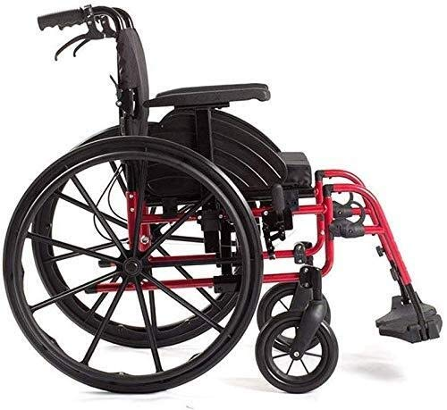 BXU-BG Sillas de ruedas de ocio, deportivas, 15 kg, ergonómicas, portátiles, cómodas, reposabrazos, reposabrazos, asiento giratorio, 100 kg, cojinete de carga de 46 x 41 cm