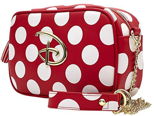 Loungefly X Disney Umhängetasche Mickey und Minnie Maus gepunktet, Rot (Rot Weiß), Einheitsgröße
