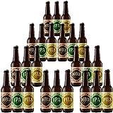 Pack de cervezas artesanas | Varios estilos. 24 unidades. Maibock + IPA + Pils. Cervezas Albero