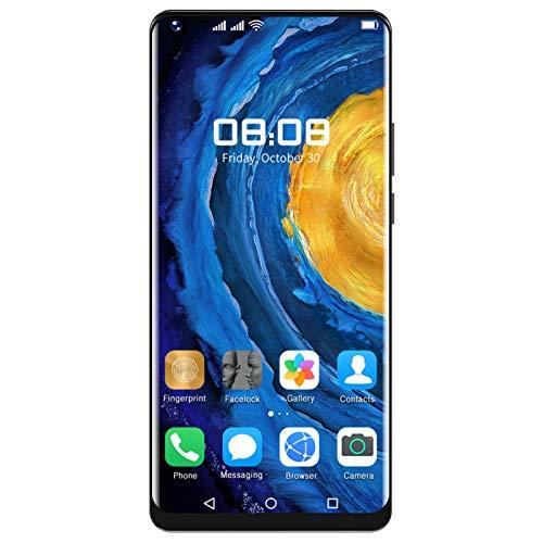 Smartphones, Mate40Pro + 6.72in Pantalla de perforación completa Tarjetas duales Smartphone con doble modo de espera Desbloqueo facial Smartphone 1 + 8G Almacenamiento para Android 6.0(EU Plug)