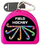 Zumoe Field Hockey Mouth Guard Case - Pass Dribble Score (Pink)