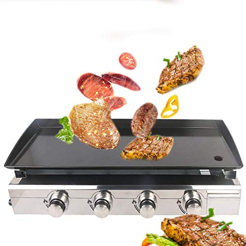 WG Neue Gas BBQ Grill 4 Brenner Griddle Edelstahl Brenner Gusseisen Hot Plate Outdoor Camping Barbecue Werkzeuge