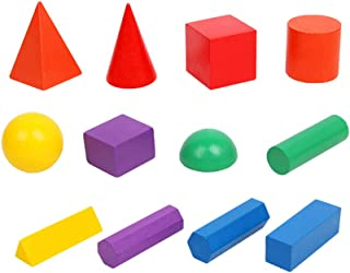 Wooden Geometric Solids,Geometric shape Enlightenment Cognition,Promote Toddler visual development,3D Shapes mathematics e...