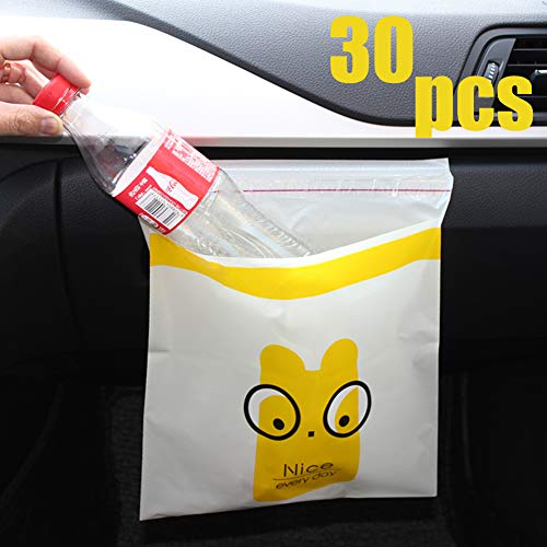 30pcs Car Garbage Bag | Disposable Stick To Anywhere - Leak Proof Portable Convenient Trash Bags For Auto Vehicle Office Kitchen Bathroom Study Room