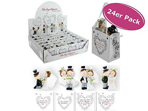 Coppia di sposi in busta, 24 pezzi