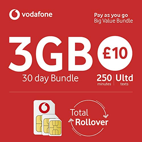 Vodafone Pay As You Go £ 10 SIM