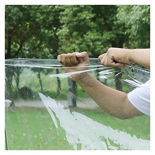 WAJIEFD Tarpaulin Clear Waterproof Heavy Duty, Dustproof Rainproof Tarp Sheet Garden, Tear Resistant No Water Leakage PVC Soft Glass, 18 Sizes (Color : Clear-0.5MM, Size : 1X1.5M)