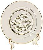 40th anniversary plate