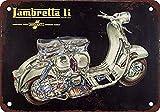 Bit SITNG Lambretta Scooters Cutaway Vintage Metal Tin Sign Wall Decor Poster Living Prompt Plaque New Aluminum Sign 8X12Inch