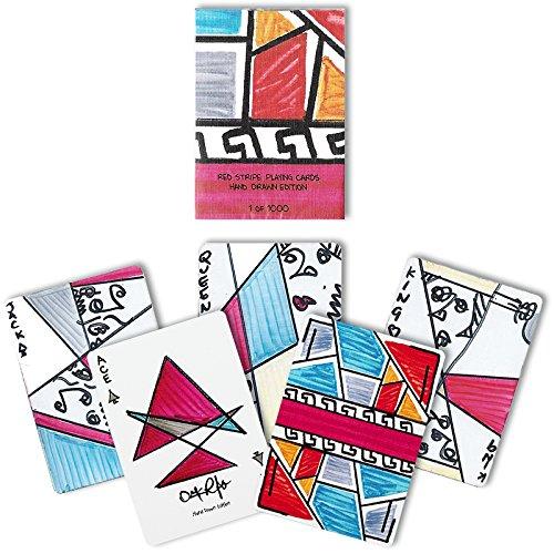 Mazzo di carte Red Stripe Playing Cards - Hand Drawn Edition - Mazzi di carte - Giochi di Magia e Prestigio