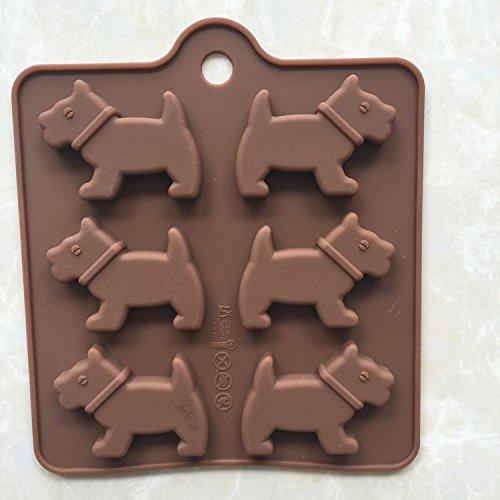 LC seis perros E086silicona Cubito de hielo molde Chocolate Cake Cupcake de jabón Moldes DIY