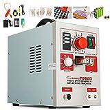 VEVOR Machine De Soudage 709AD Portable Soudeuse Par Point 220 V Poste à Souder Instantané 50-800 A Soudage de Batterie 3,2 kW Soudeuse Inverseur 5-6 mm pour Batteries et Souder les Circuits Intégrés