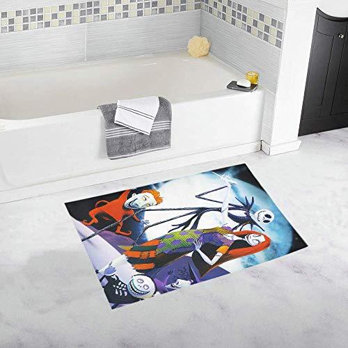 vrupi Popular Nueva Alfombra baño Pesadilla Personalizada Antes Navidad Alfombra baño Antideslizante Alfombra...