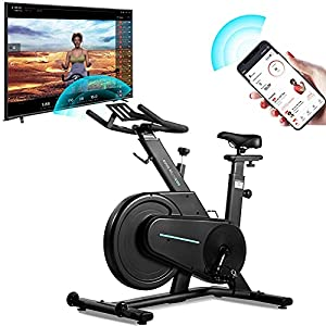 OVICX Exercise Bike Bluetooth Stationary Indoor Cycling Bike with App Exercise Equipment for Home Workouts fitness