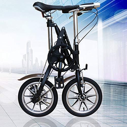 WHKJZ Bicicleta Plegable Marco Acero Carbono Ruedas de 14