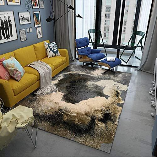 Alfombra Antiacaros Salon gris Sala de estar alfombra gris abstracto retro antiguo patrón suave alfombra anti-ácaros Alfombras Vintage 140X200CM Alfombras Habitacion Infantil 4ft 7.1''X6ft 6.7''