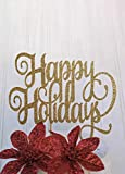 Decoración para tarta con purpurina para vacaciones, muñeco de nieve, para tarta de agradecimiento, decoración para tarta de 2019, decoración de día festivo, decoración de tarta de Acción de Gracias