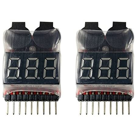 Lithium Battery Gauge LED for 1-8 cells in series GREEN LED display