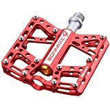 BONMIXC Mountain Bicycle Pedals 9/16 Cycling 4 Sealed Bearings Excellent Lubricity Alloy Road Bike Pedals