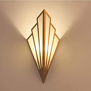 YINGYING Lámpara de Pared LED de Lino en Forma de Ventilador De Estilo Europeo, Lámpara de Pared de Pantalla de Hierro Forjado Antiguo Accesorio Art Deco G9 Aplique de Pared Art Deco For Sala de Estar