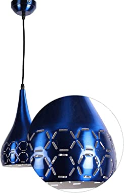 SINOMAN Blue Coloured Laser Balloon Shape Round Hanging Pendant Light for Ceiling.( Bulbs Not Included)