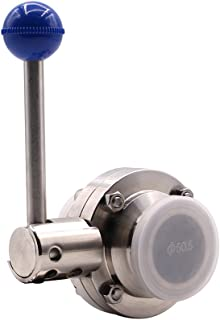 DERNORD Sanitary Butterfly Valve with Pull Handle Stainless Steel 304 Tri Clamp Clover (1.5