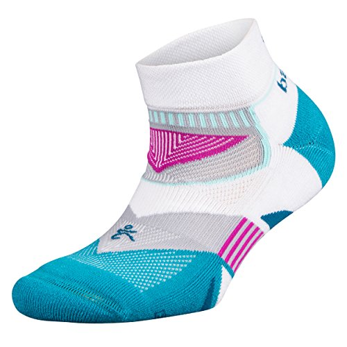 Balega Damen Enduro V-Tech Low Cut Socken (1 Paar), Damen Unisex-Erwachsene, Ultralight, Weiß/Blau, Large