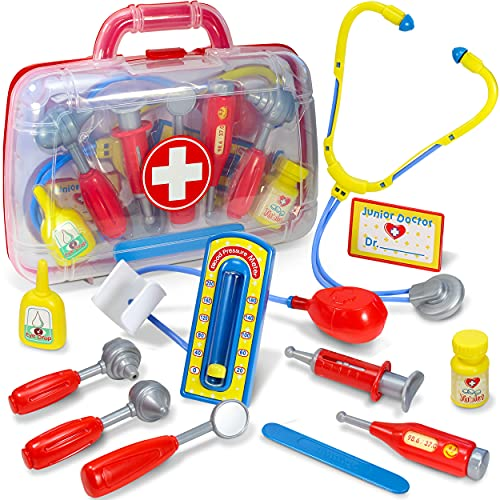 Kidzlane Doctor Kit for Kids   Kids Doctor Playset   Toddler Toy Doctor Kit   Play Doctor Set for Kids with Case   Pretend Medical Dr Kit with Kids Stethoscope Included