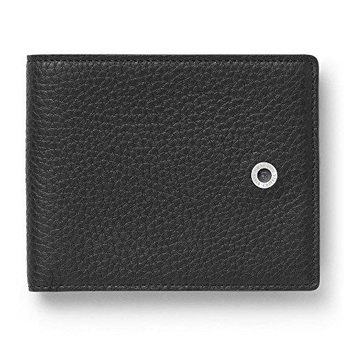 Graf von Faber-Castell Cashmere Kreditkartenhülle, 10 cm, Schwarz