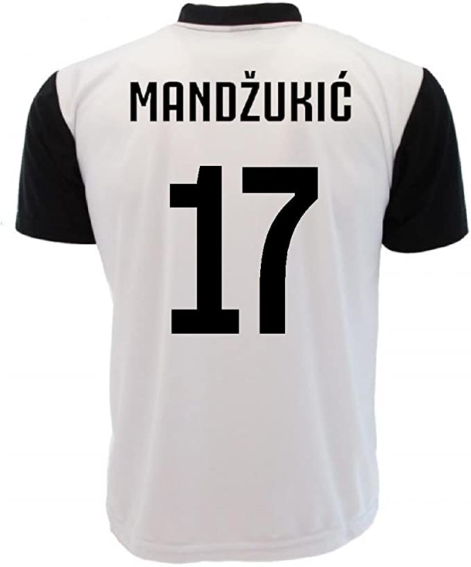 Maglia Mandžukić T-Shirt Juventus Replica Neutra Personalizzata PS ...