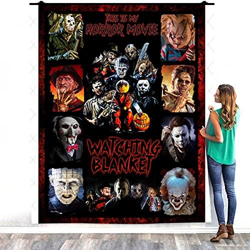 Zoko Apparel Horror Movie Character Coperta Calda Letto – Decorazione Camere da Letto Casa Accogliente Coperta in Pile (152,4 x 203,2 cm)