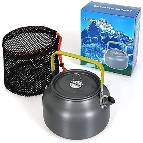 JINYOMFLY Camping Teekessel Kaffeekanne Wasserkocher Outdoor Geschirr, Teekanne Kaffeekanne, Aluminium Camping Wasserkocher, Camping Kochgeschirr Gross für Outdoor Picknick Wandern (1.2 L)