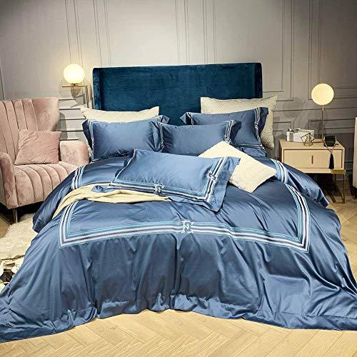 Bettbezug Bettwäschesätze Bettwäschesätze Kingsize-Bett 4-teiliges Queensize-Kingsize-Bett-Set Quilt Bettbezug Bettwäsche und Kissenbezug für einzelne Doppelbettwäsche