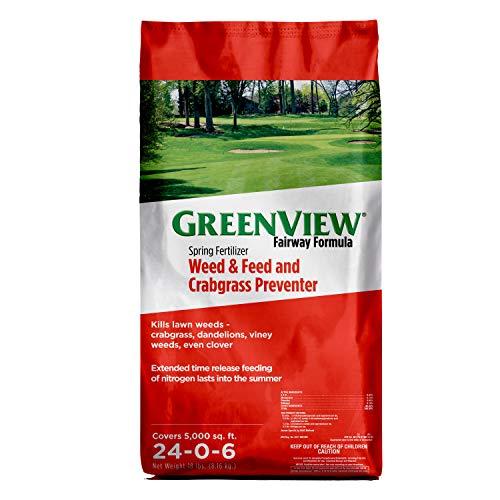 GreenView Fairway Formula Spring Fertilizer Weed & Feed Plus Crabgrass Preventer