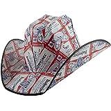 partybyspursgrl Bud Light, Budweiser Cowboy Cardboard Hat (Red)