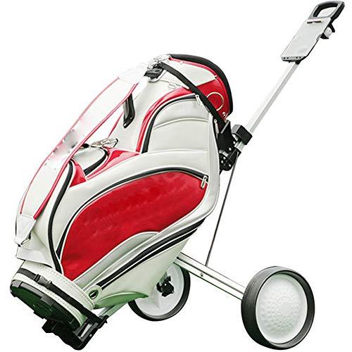 YLEI Golfwagen - speziell für Kinder - Golftrolley klappbar Trolley 2 Räder Trolly für Golf Golfbag - Super leicht und einfach klappbar - Wächst mit - flexibel für alle Bags & Golfsets