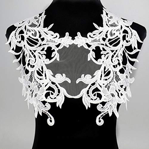 Schwarze Stickerei Venise Lace Neckline Collar Embellishment Nähapplikationen Borten Lace Fabric Dress Supplies Scrapbooking, 19