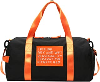 Sports Duffle Bag Sports Gym Shoulder Bag for Yoga Hiking Camping Swimming (Color : E)