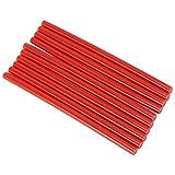 Bastoncini Stick Colla a Caldo, 10 Pezzi/Set 7x150 mm Colorato Hot Melt Glue Sticks Alta Viscosità Strumento Riparazione DIY per Progetti Artigianali Piccole Riparazioni per 20W Pistola Hot Melt (Red)