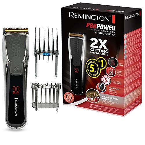 Remington HC7170 Pro Power Titanium Ultra Tagliacapelli, 1 - 42 mm, con 2 Pettini, ca/batteria